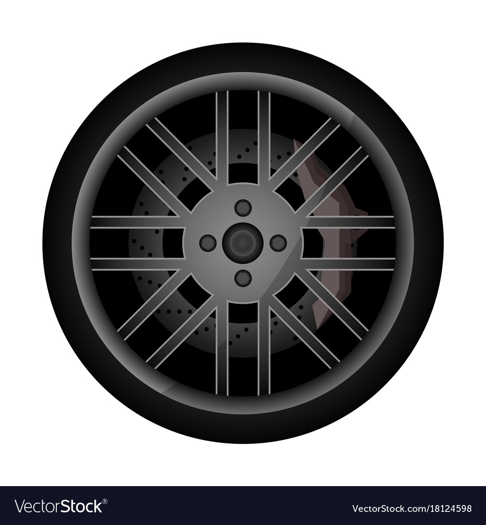Side view racing car wheel icon Royalty Free Vector Image for Racing Tire Vector  186ref