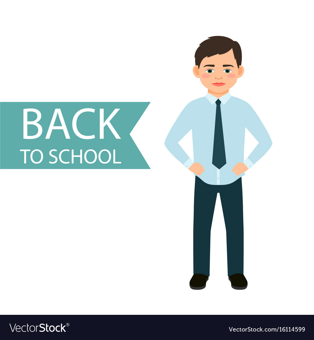 Back to school little boy vector image