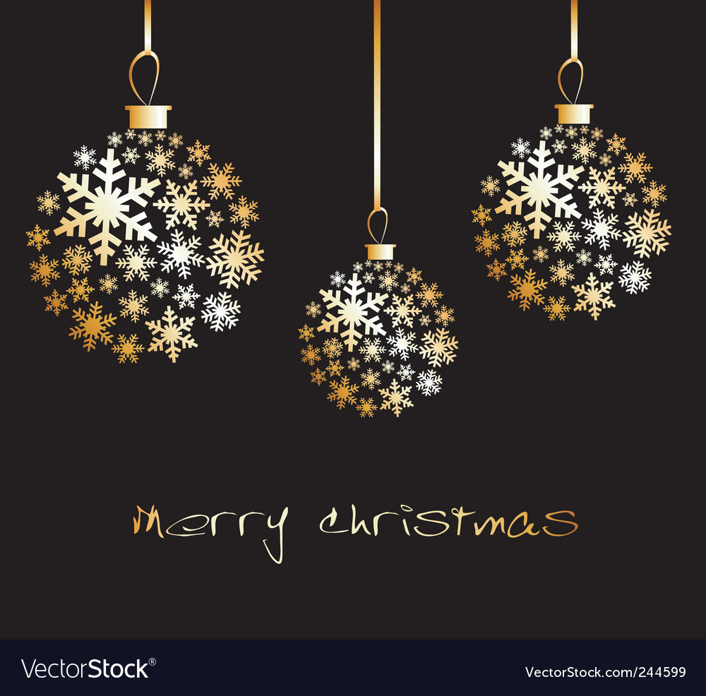 Christmas ball made from golde vector image
