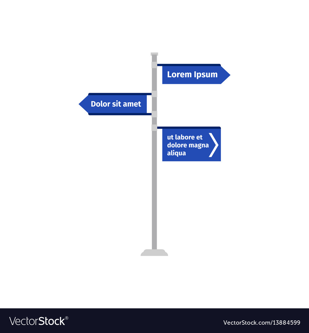 Multiple ways road direction sign vector image