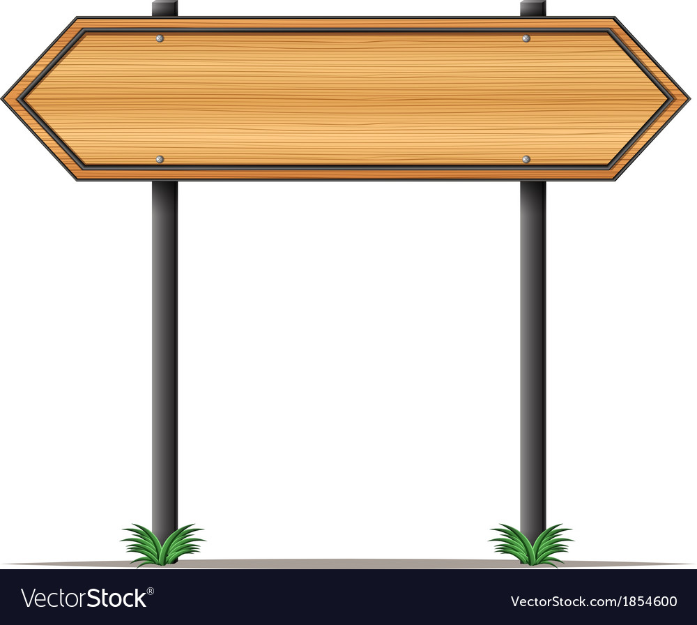 A wooden signboard with pointed edges vector image
