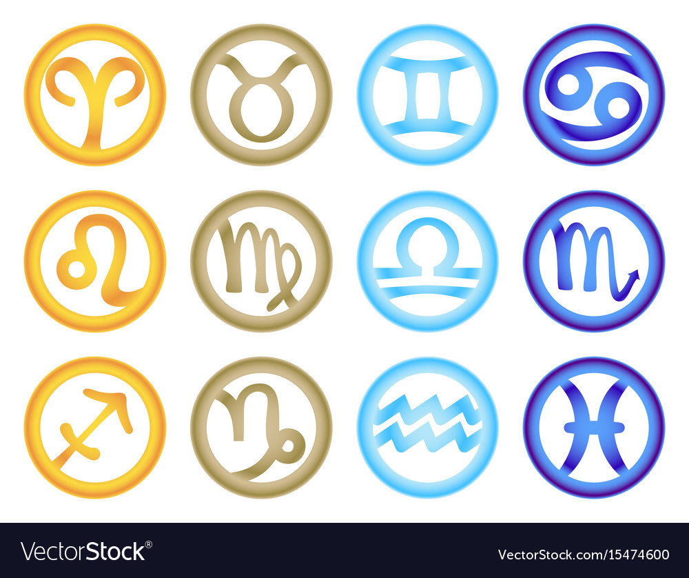 Set of zodiac signs colored respectively with the vector image set of zodiac signs colored respectively with the vector image buycottarizona