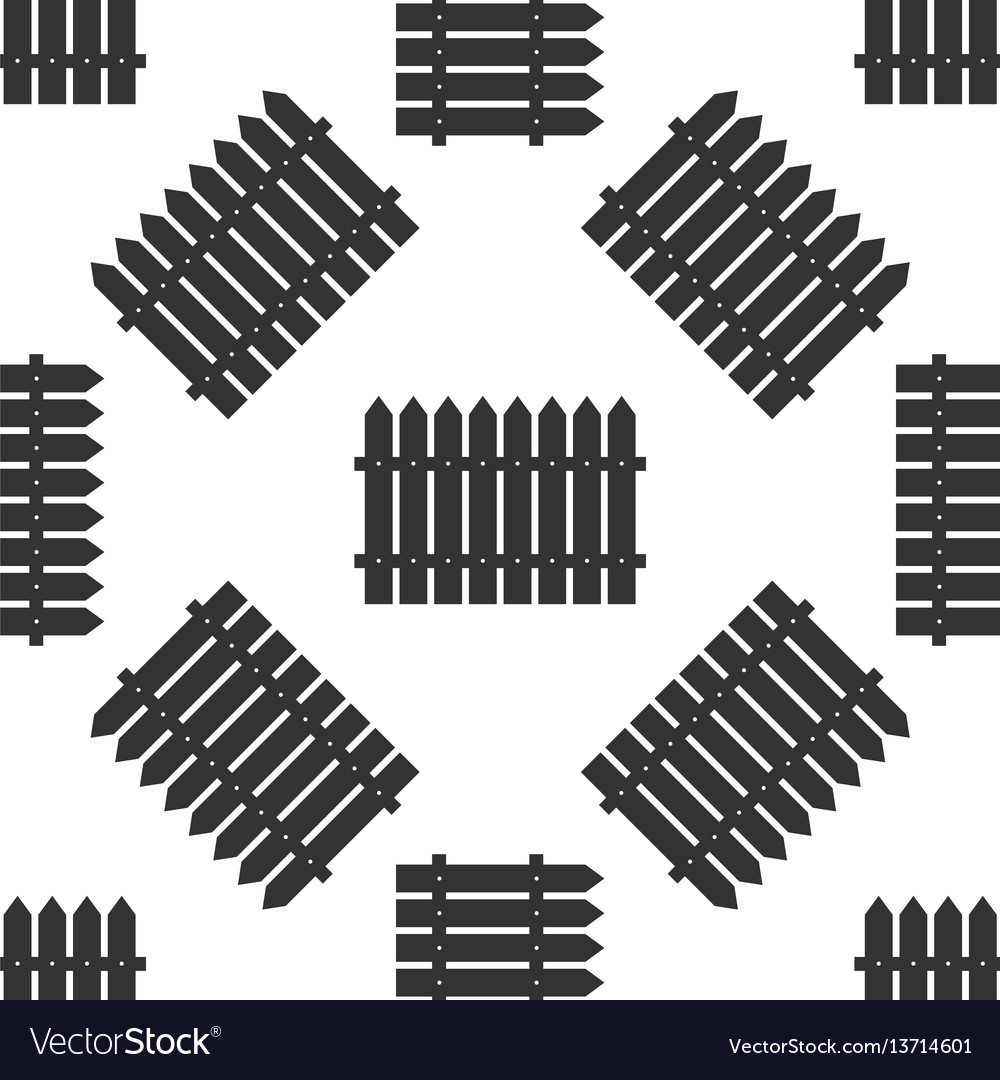 Fence icon seamless pattern on white background vector image