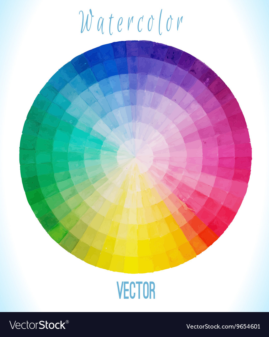 Multicolor spectral circle vector image