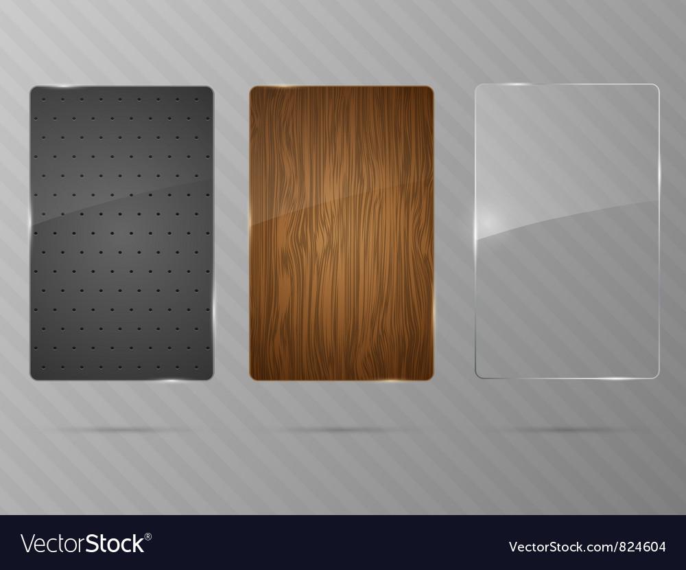 Metal wood and glass framework vector image