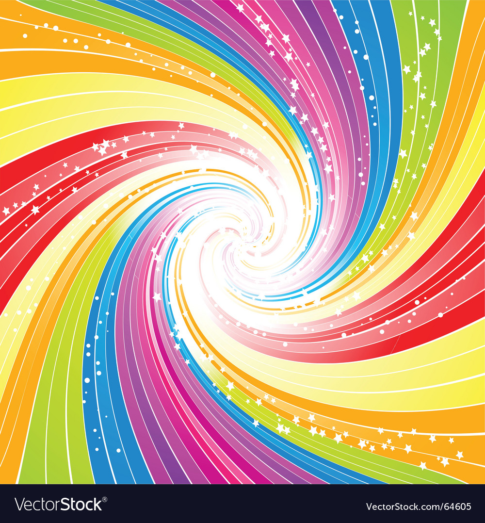 rainbow swirl background royalty free vector image