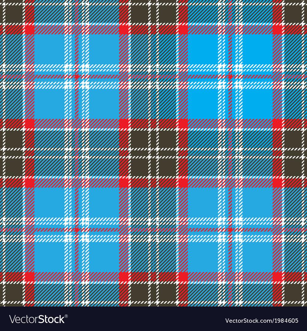 Seamless Blue Tartan Pattern Design vector image