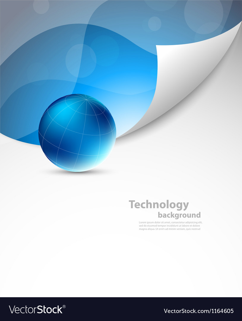 Tech background with sphere vector image