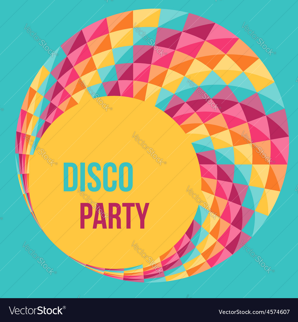 Poster design vector - Colorful Abstract Background Party Poster Design Vector Image
