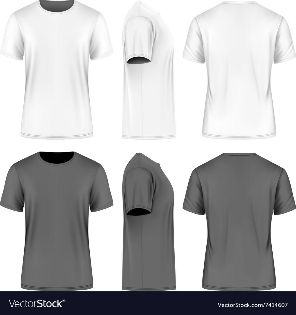 Men short sleeve t-shirt vector image