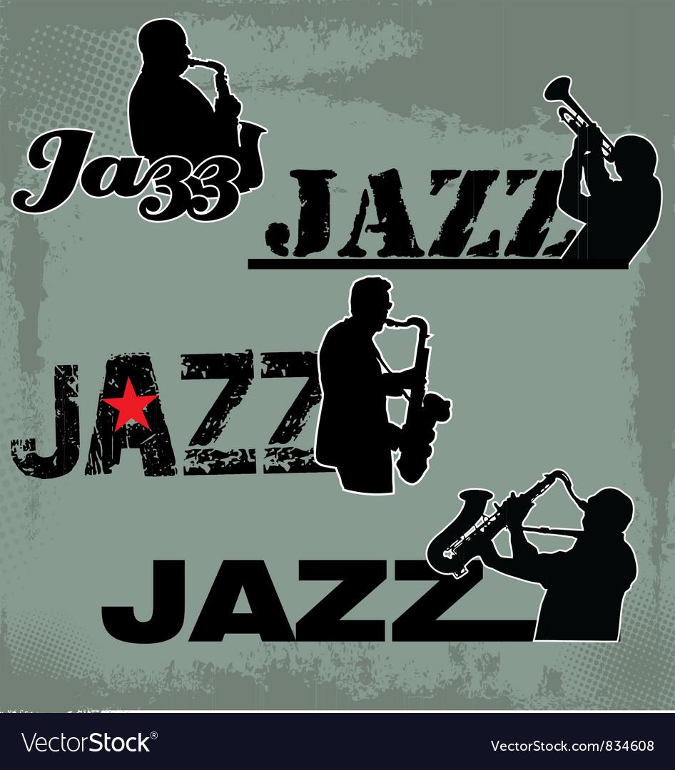 Jazz Music headline vector image