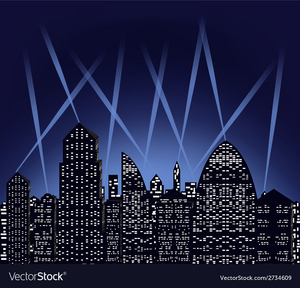 City at night vector image