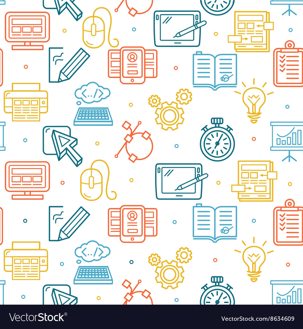 Web Design Background Pattern vector image