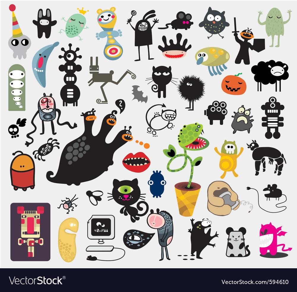 Misc cartoons vector image