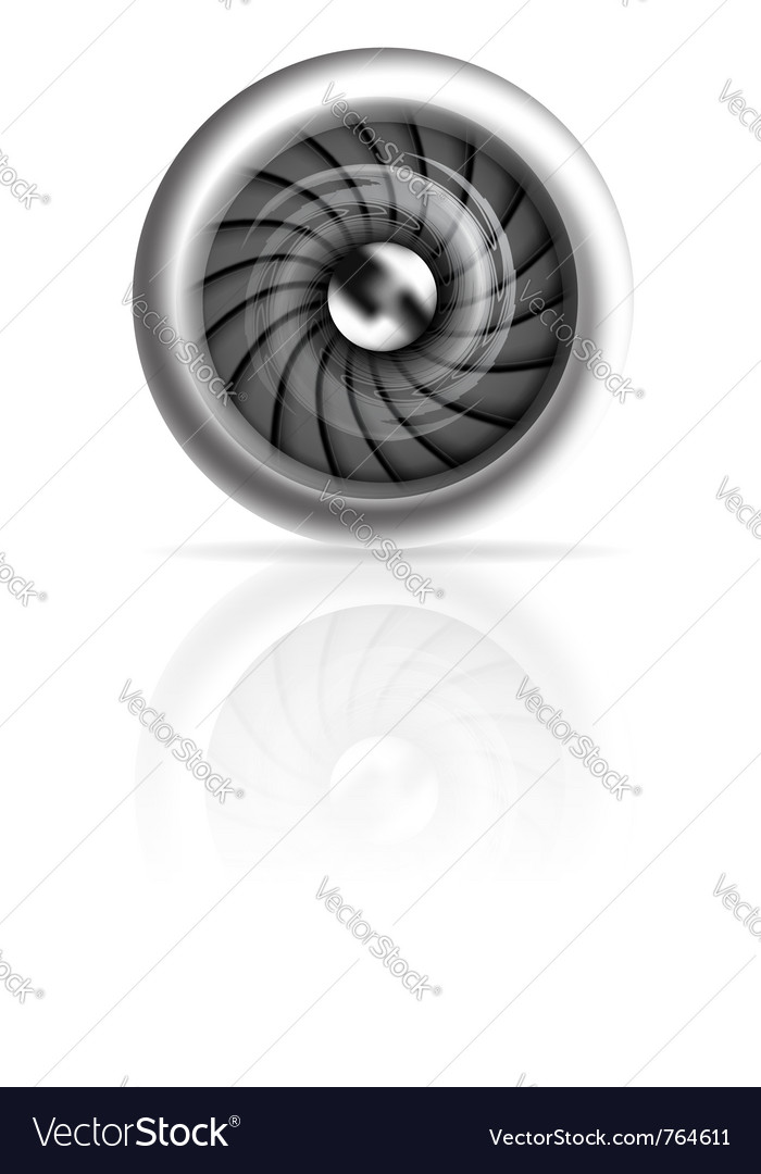 Jet engine vector image