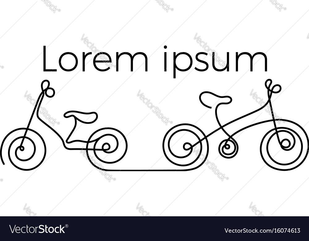 Logo bike vector image