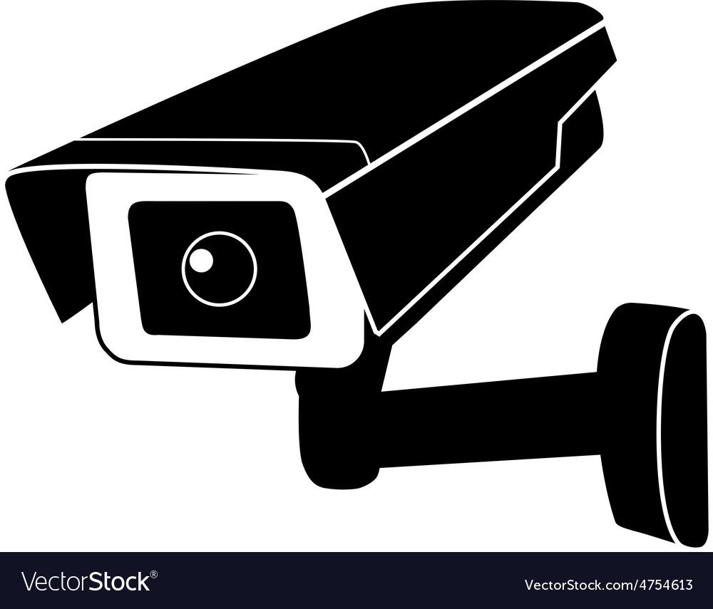 surveillance camera royalty free vector image vectorstock. Black Bedroom Furniture Sets. Home Design Ideas