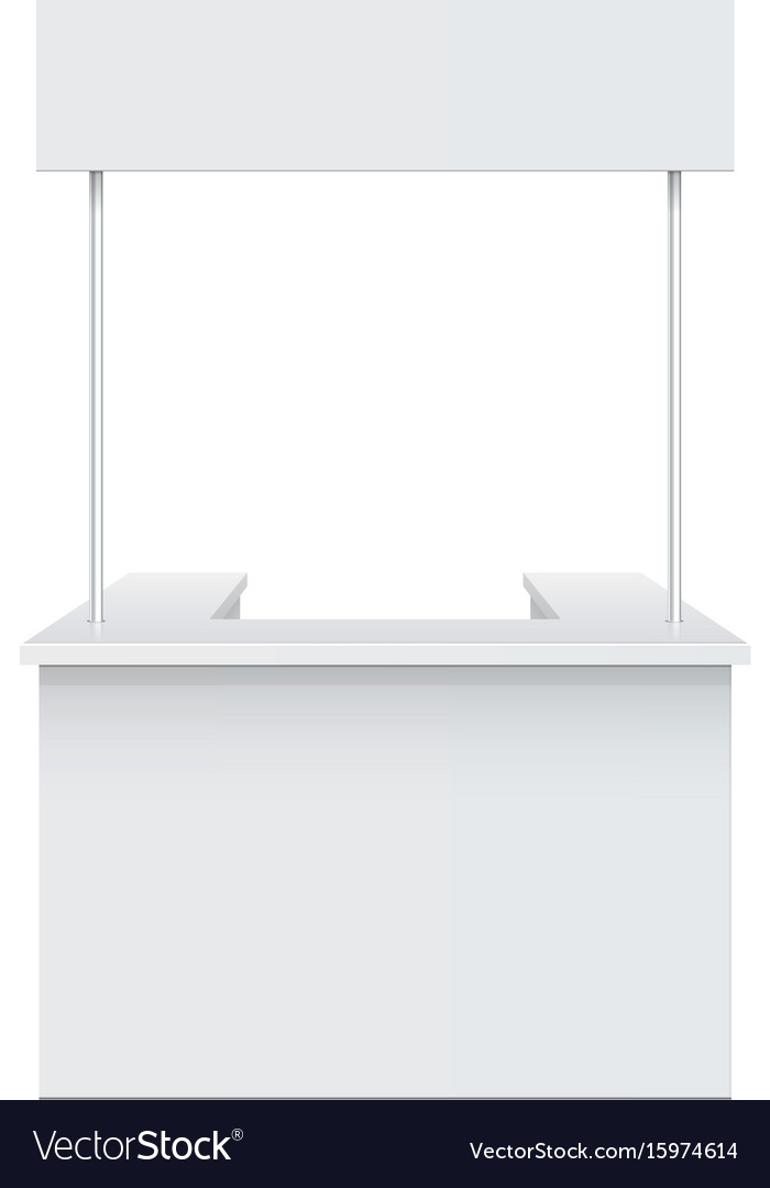 Promotion counter retail trade stand vector image