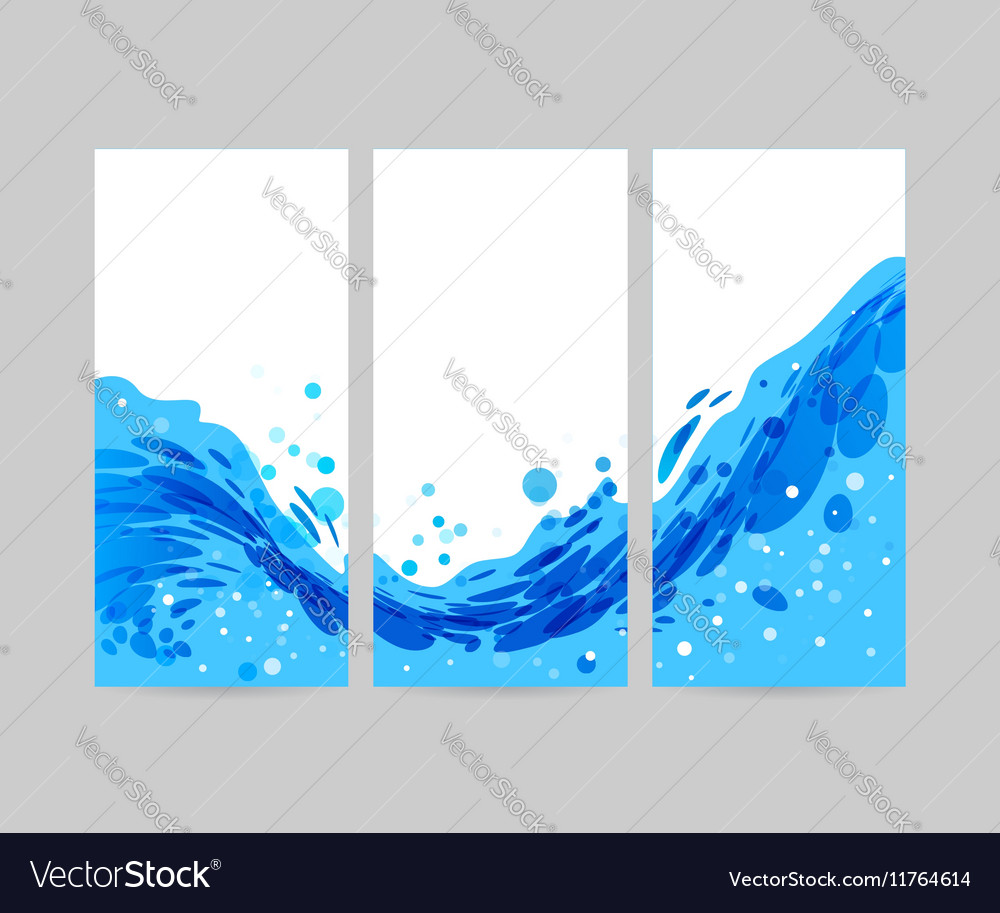 Set wave background brochure design royalty free vector for Background for brochure design