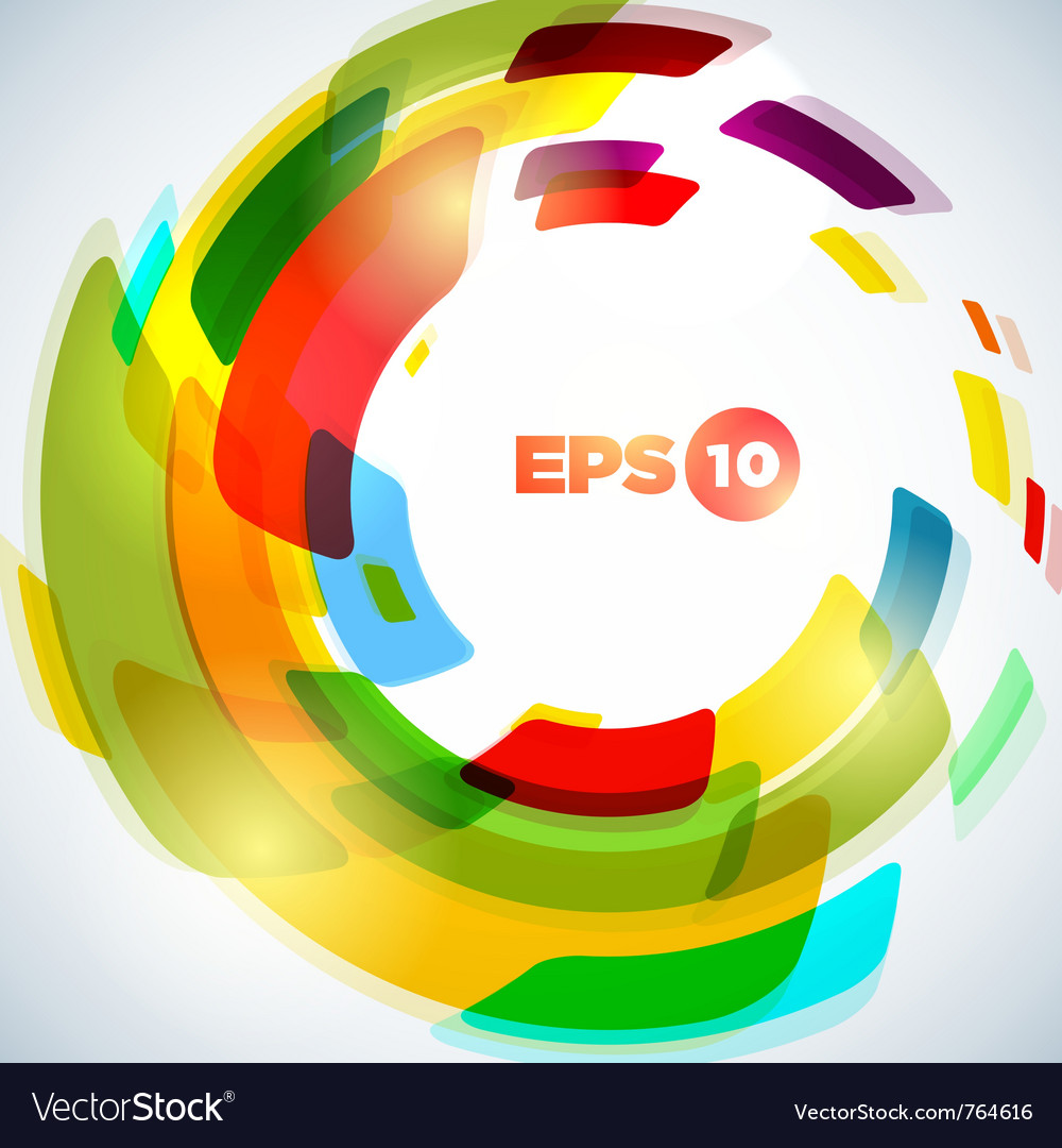 Abstract concentric circle background design vector image
