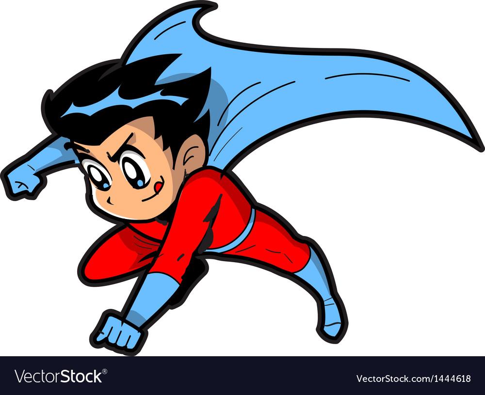 Anime Manga Boy Superhero vector image