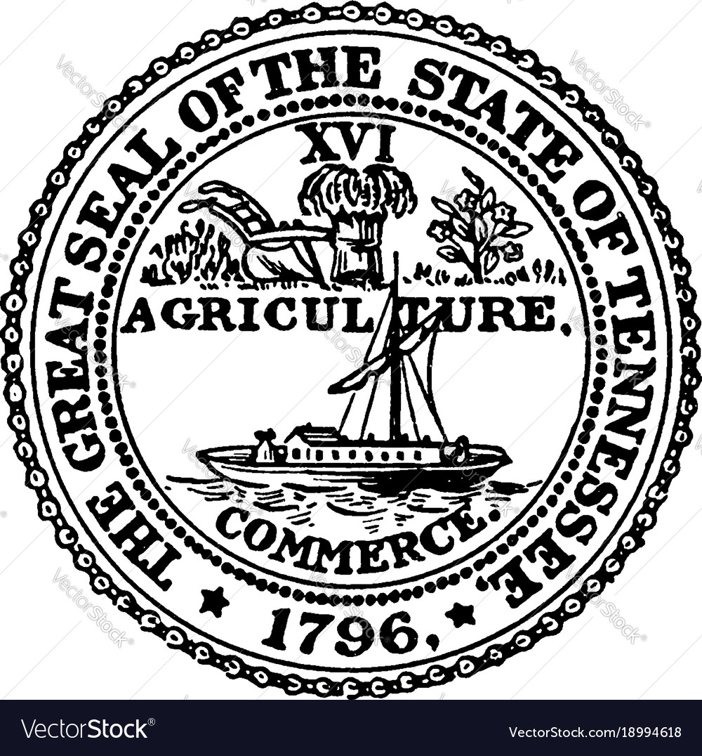 The great seal of the state of tennessee vintage vector image buycottarizona Images