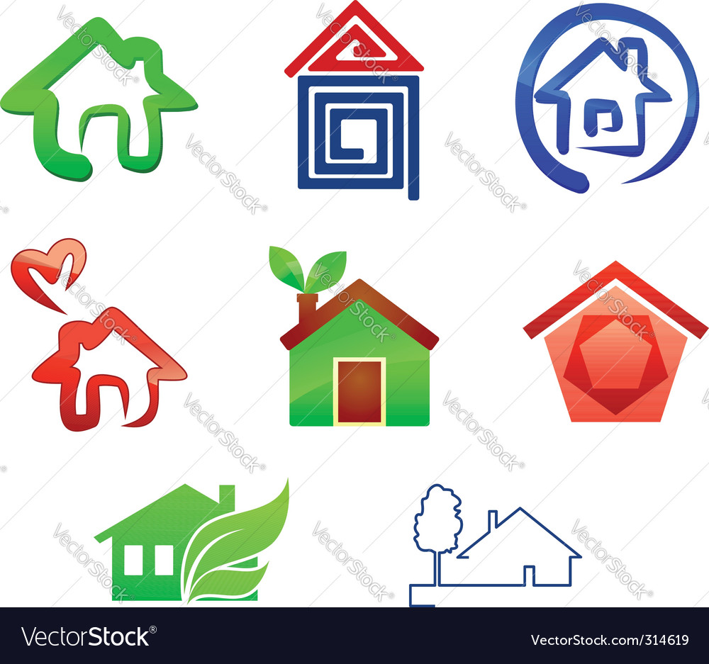 Real estate symbols Vector Image