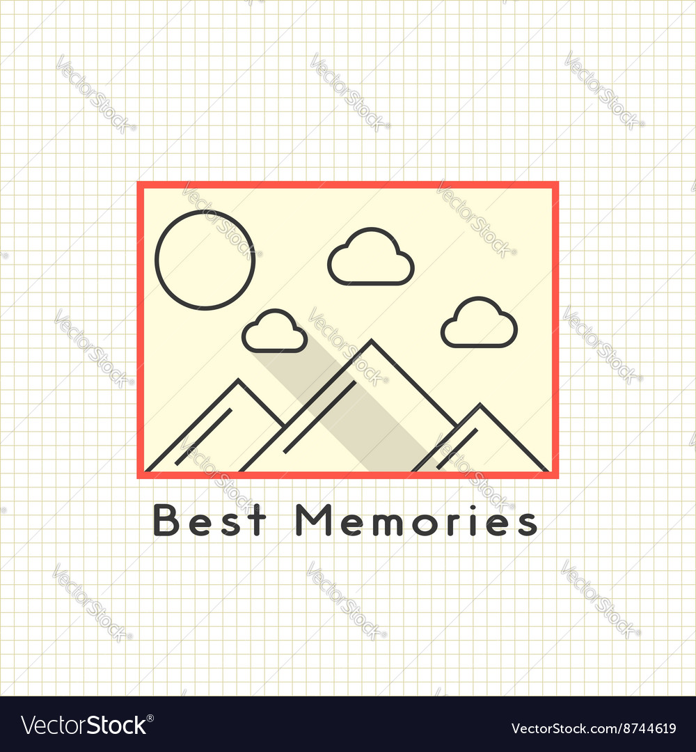 Best memories photoframe on the notebook sheet vector image