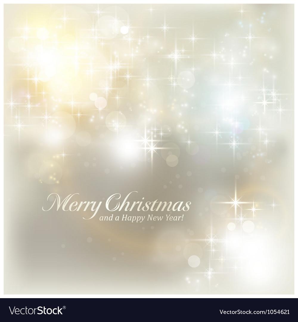 Silver Christmas lights vector image