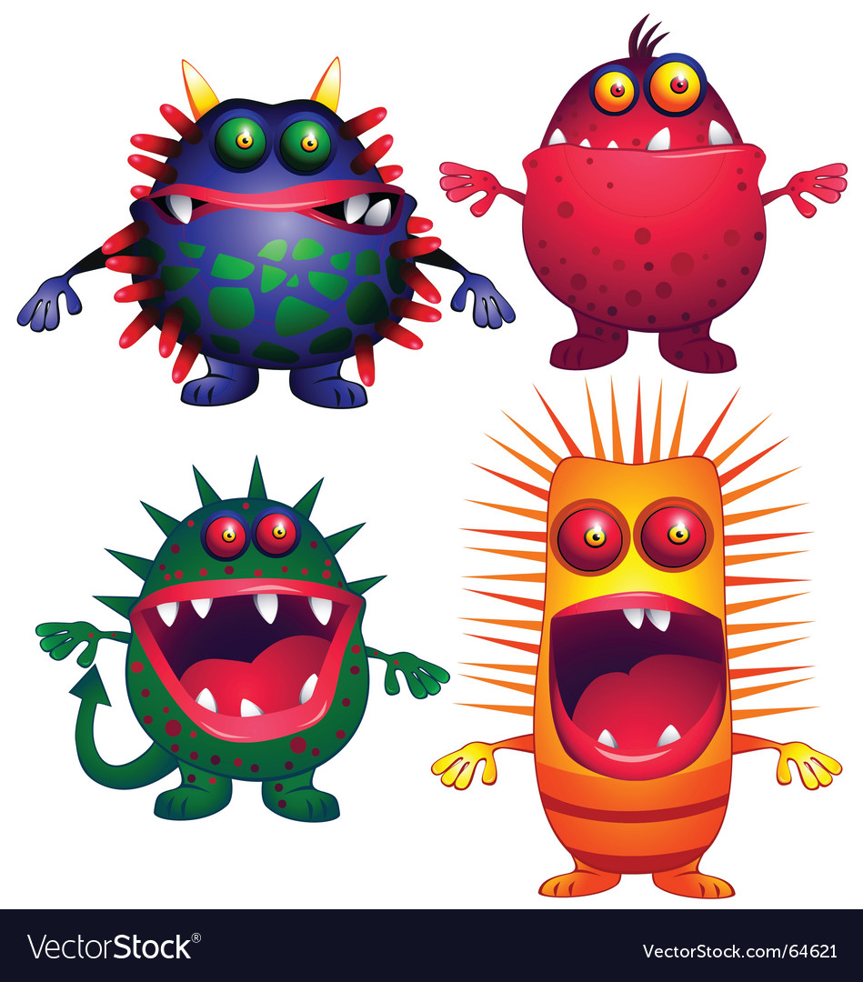 Ugly creature vector image