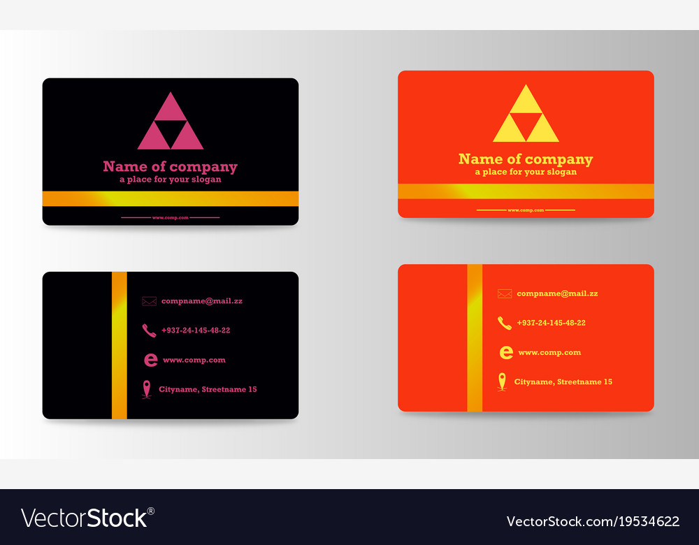 business card ideas for designers and web design vector image