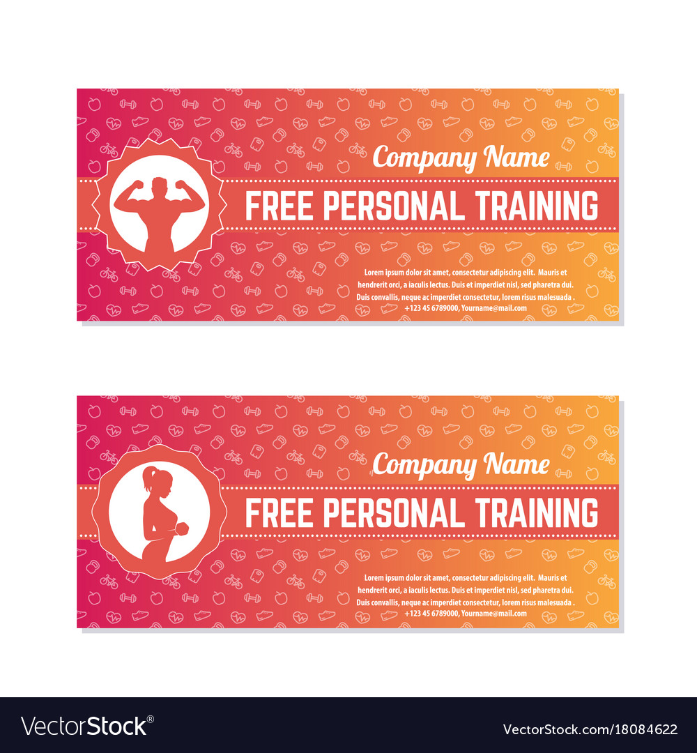 Free personal training gift vouchers royalty free vector free personal training gift vouchers vector image negle Choice Image