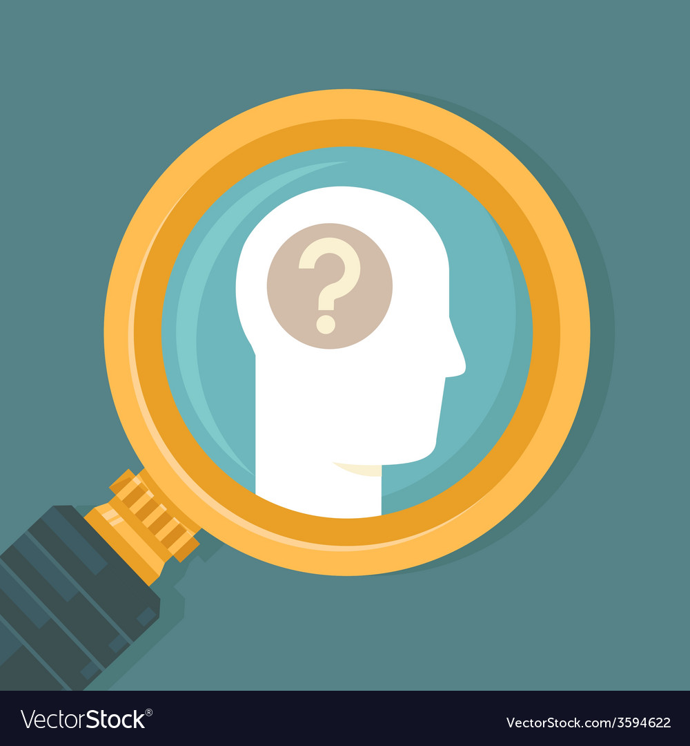 Psychology concept in flat style vector image
