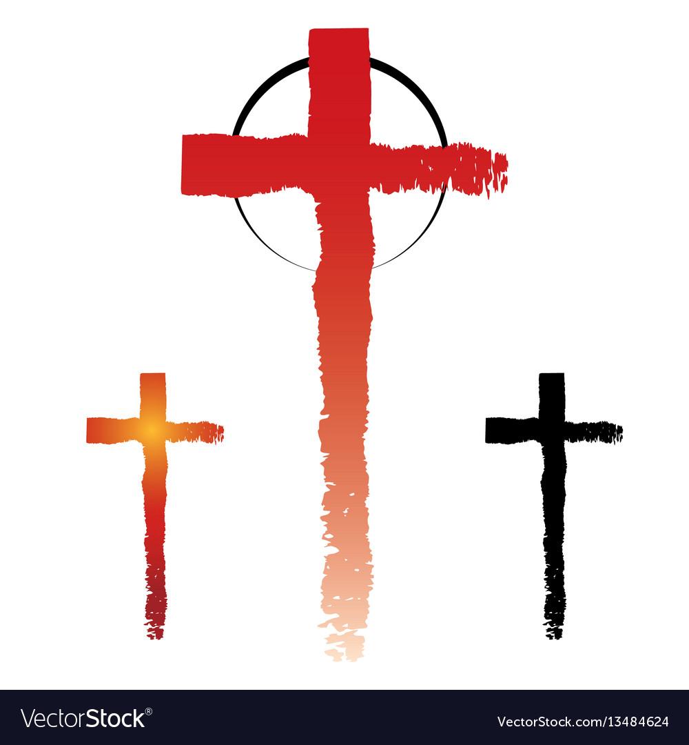 Christianity cross symbols vector image