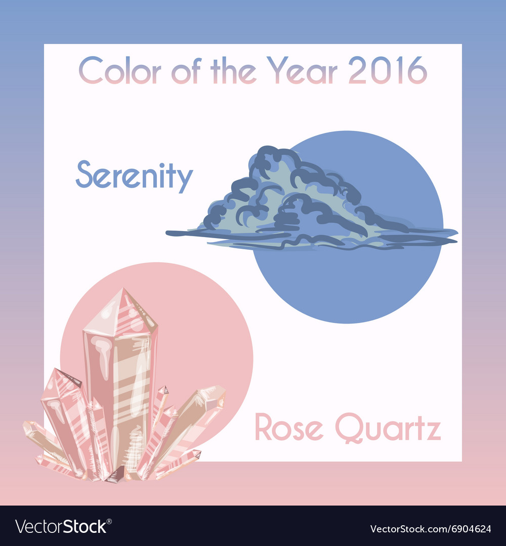 With pantone colors vector image