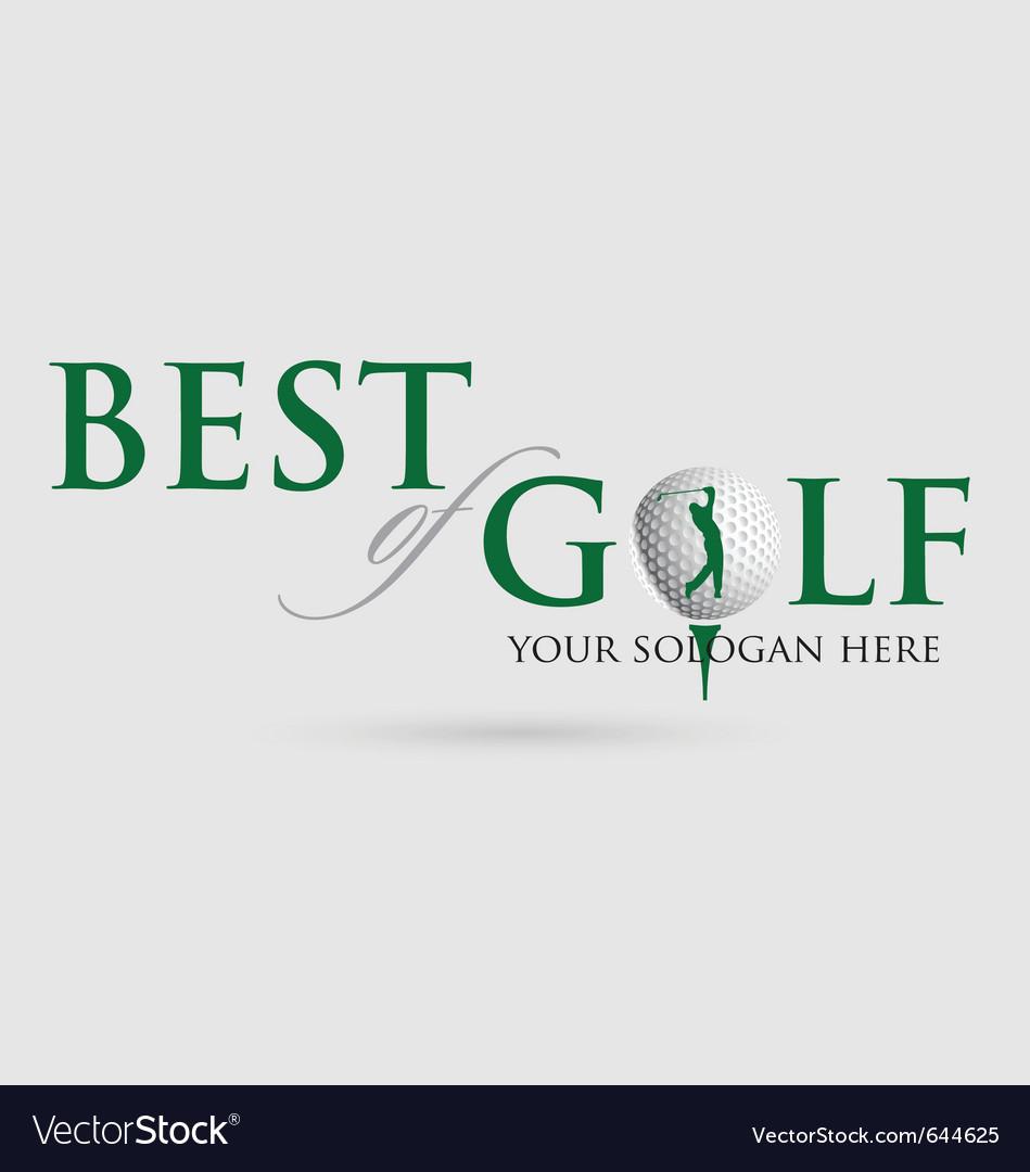 Best-of-golf vector image