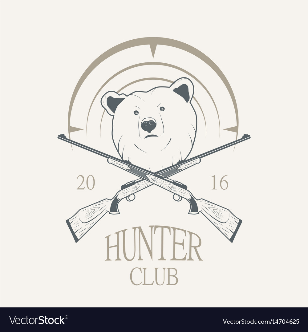 A bear and a gun vector image