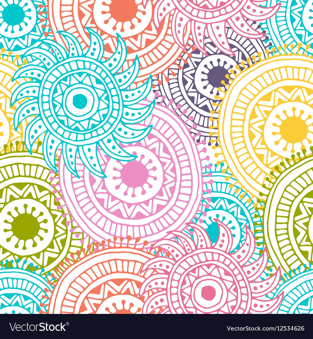 Abstract hand drawn background Zentangle vector image
