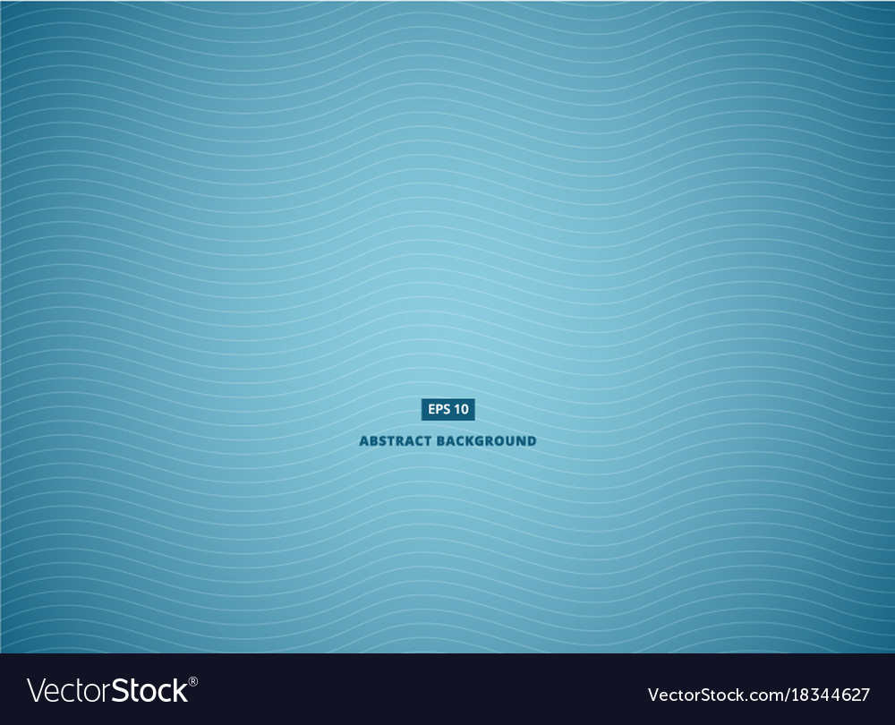 Blue abstract background with white wave lines vector image
