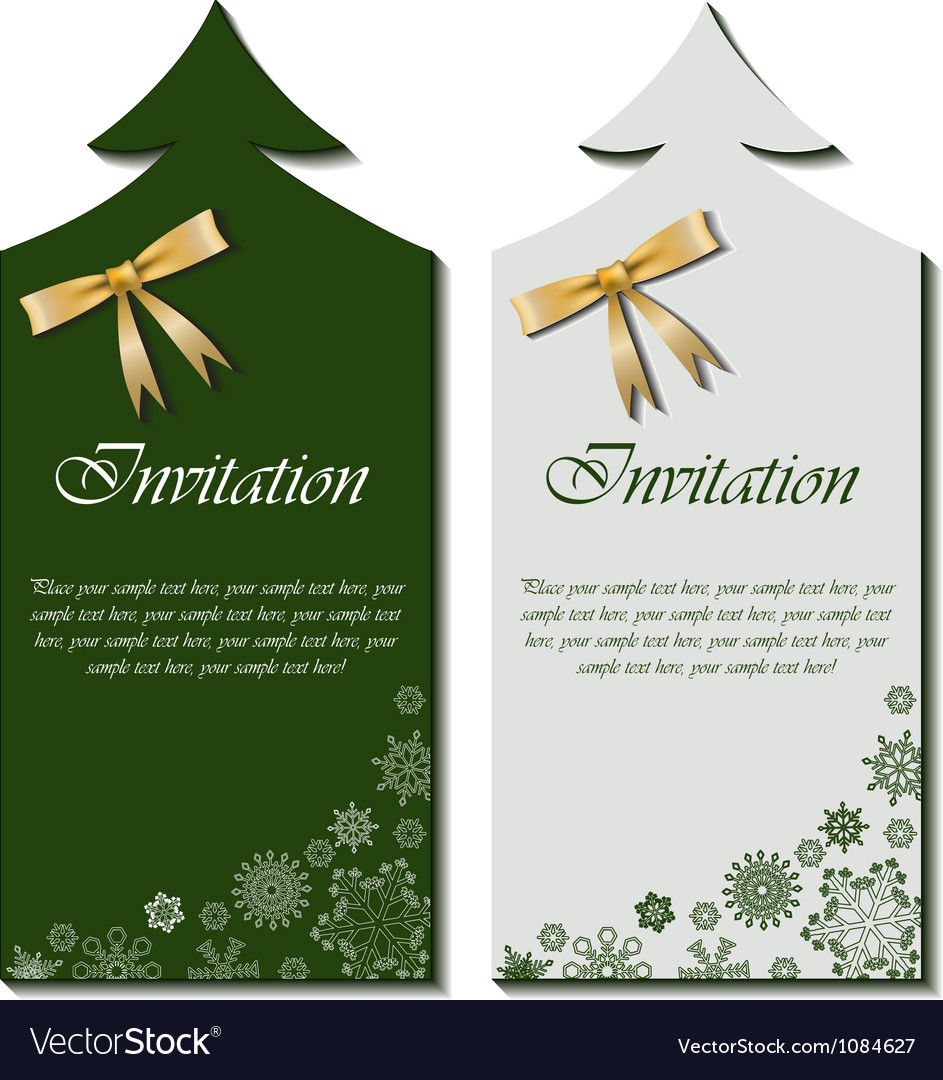 Christmas cards with bow vector image