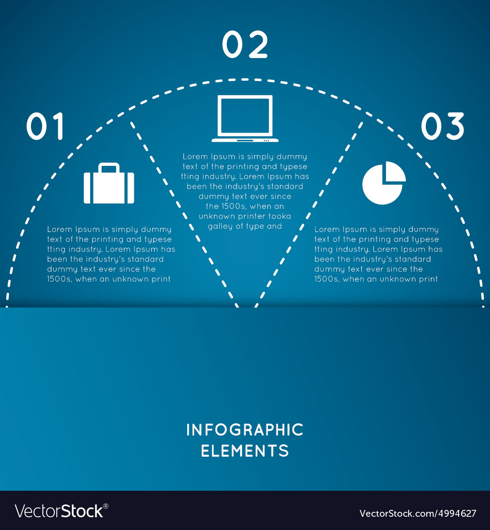 Infographic elements Semicircle for business conce vector image