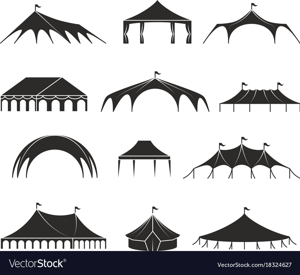 Outdoor shelter tent event pavilion tents vector image  sc 1 st  VectorStock & Outdoor shelter tent event pavilion tents Vector Image