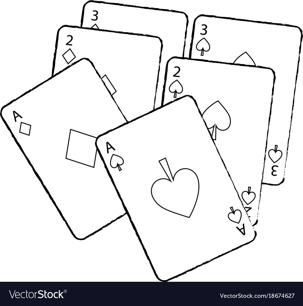 Poker deck of cards gambling concept vector image