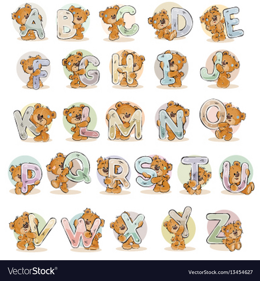 Set letters of the english alphabet with vector image