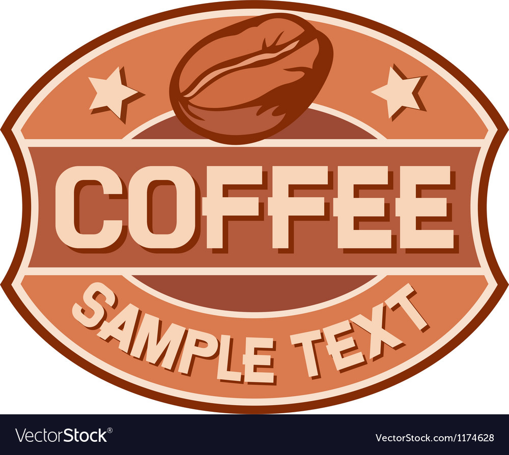 Coffee symbol vector image
