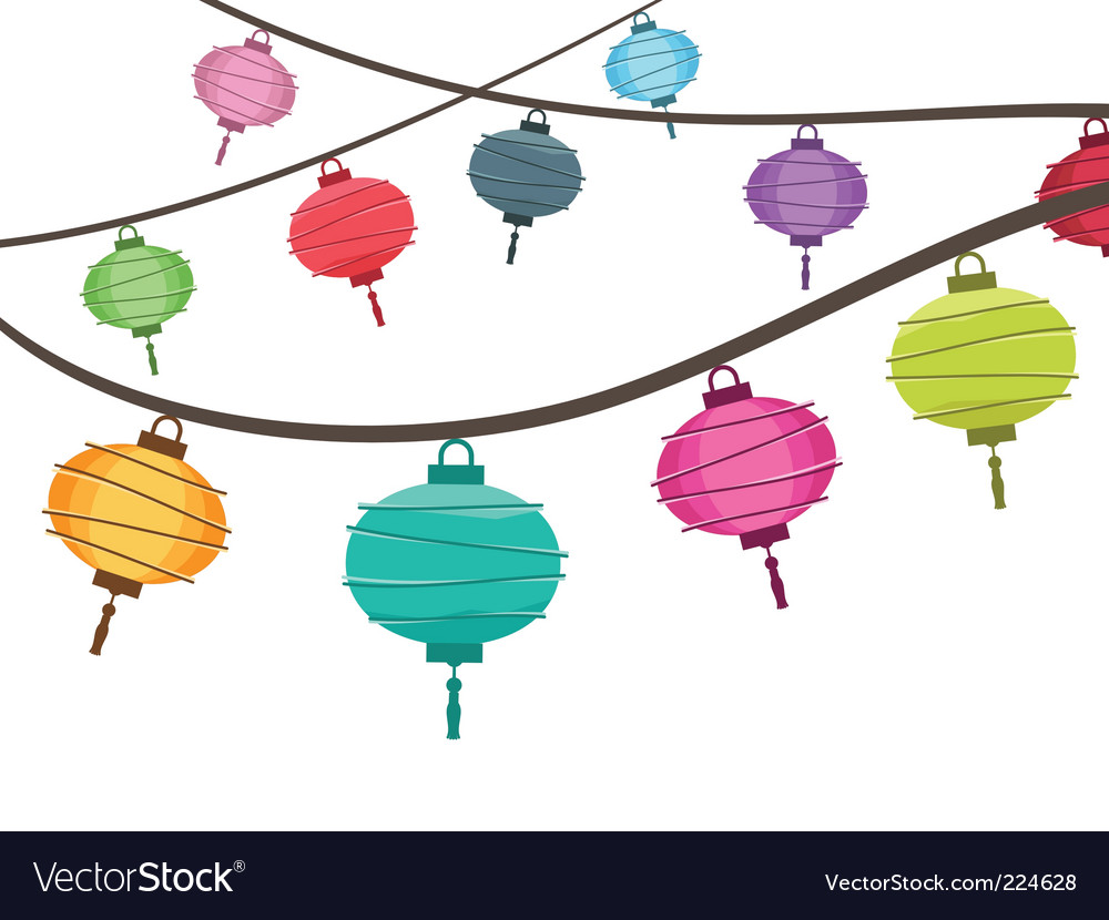 Lantern decorations vector image