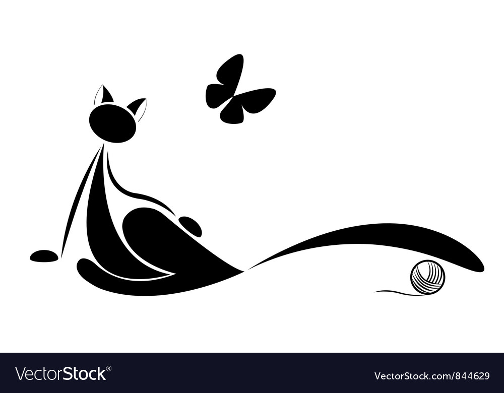 Cat silhouette for your design vector image