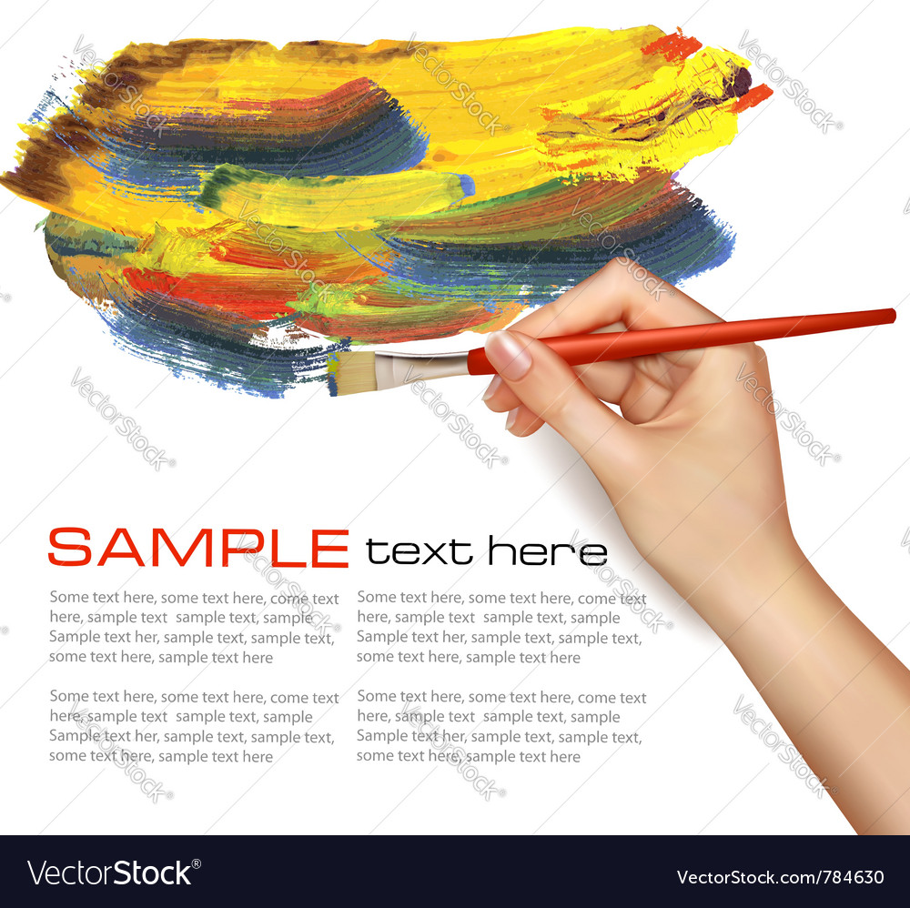 Painting background vector image