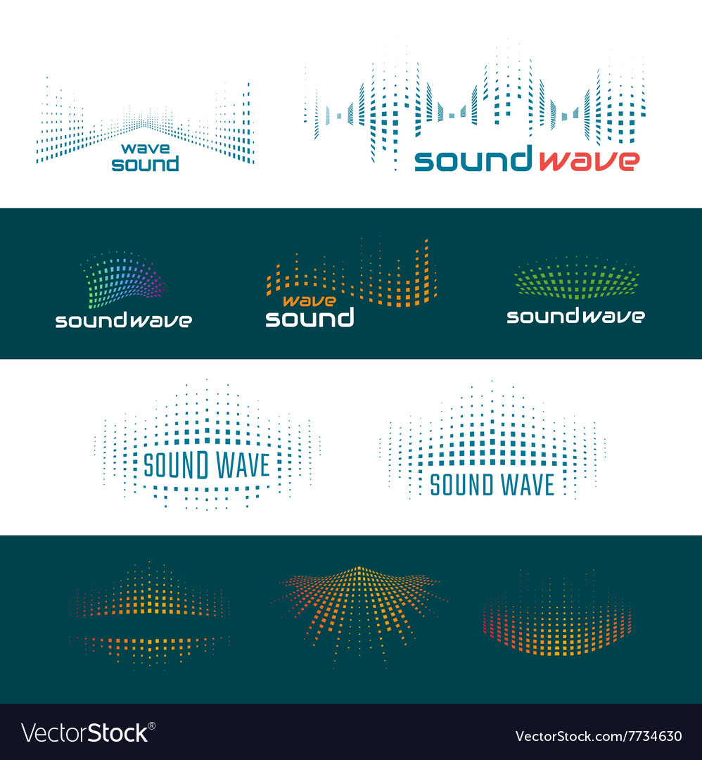 Sound waves logo vector image