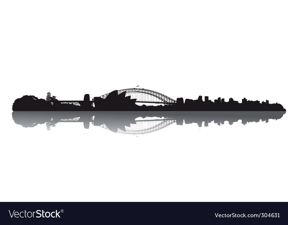 Sydney skyline vector image